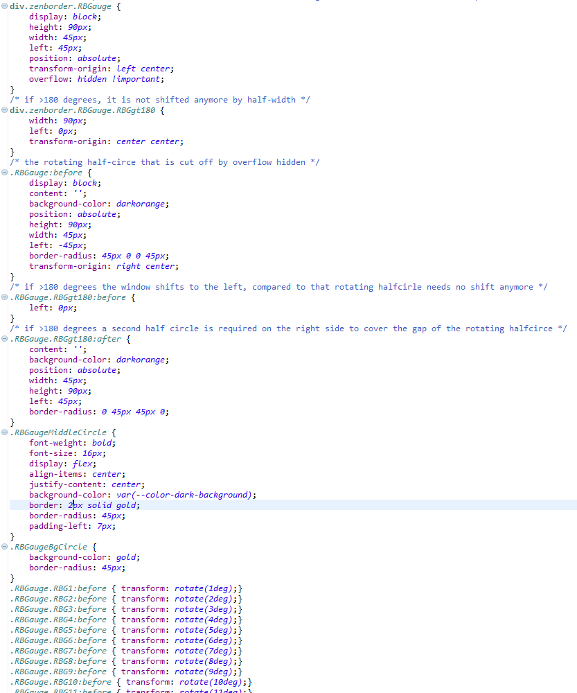 Light-weight CSS-only pie chart in Lumira Designer – evosight com